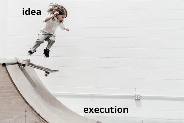 Execution Over Ideas - Kid Skateboarder